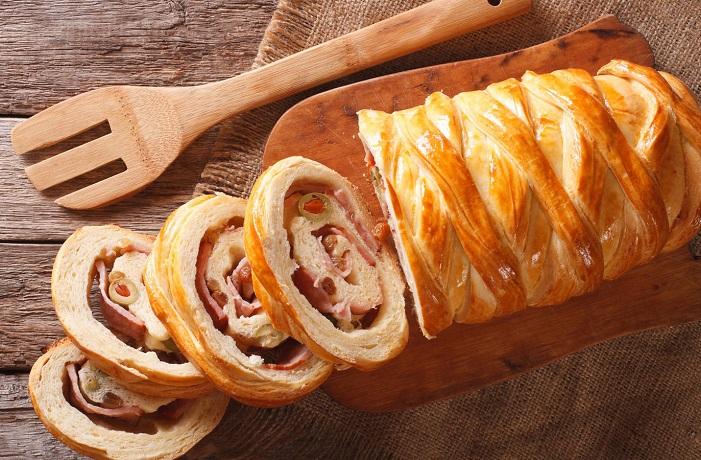 Receta de pan de jamón