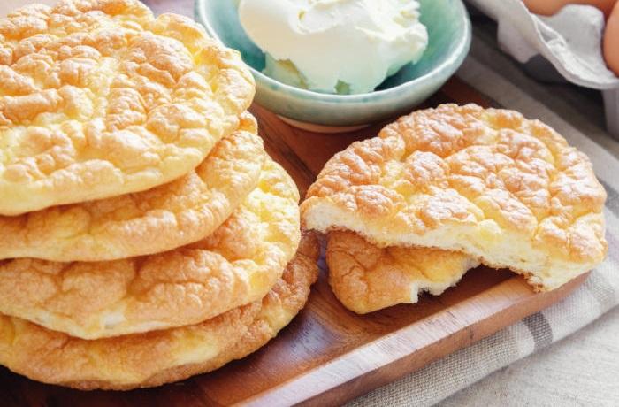Receta de pan nube o pan sin harina