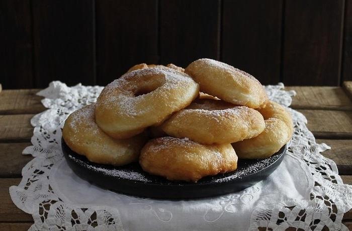 Receta de rosquillas napolitanas o graffes